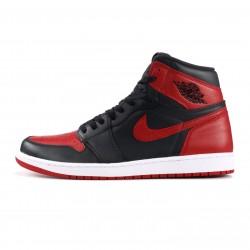"Air Jordan 1 High ""Banned"" Red Black 555088-001"