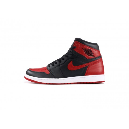 Air Jordan 1 High Banned Red Black 555088-001 Shoes