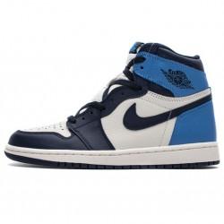 """Air Jordan 1 Retro High OG """"Obsidian"""" University Blue White 555088-140"""