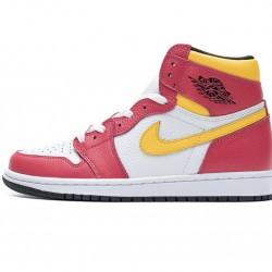 "Air Jordan 1 High OG ""Light Fusion Red"" Red Yellow White 555088-603 36-46"