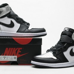 "Air Jordan 1 High ""Silver Toe"" Black Silver CD0461-001"