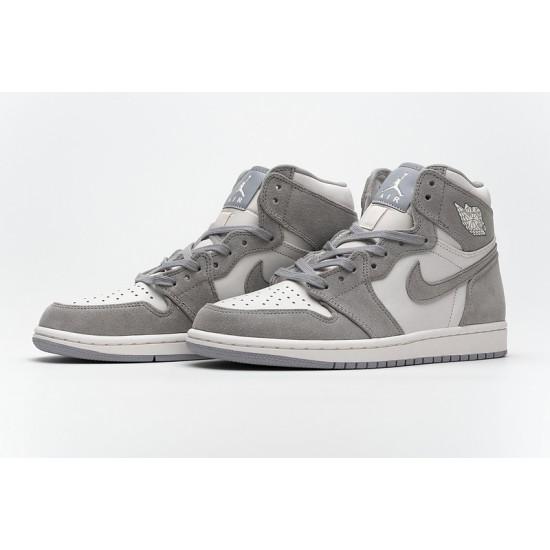 Air Jordan 1 Pale Ivory Gray Pink AH7389-101 Shoes