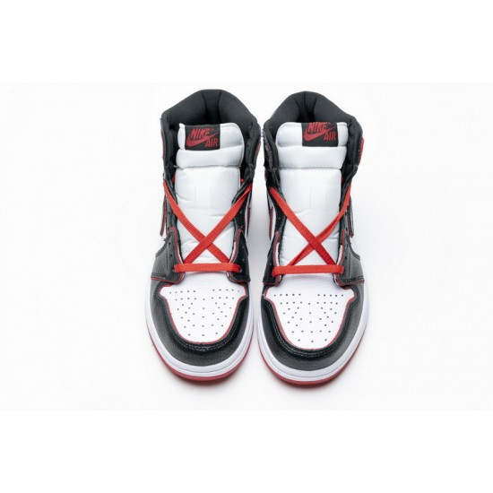 Air Jordan 1 Retro High OG Meant To Fly Black Red 555088-062 Shoes