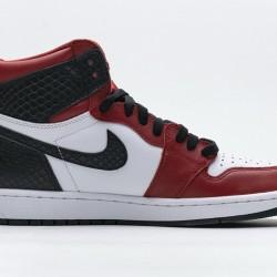 """Air Jordan 1 """"Satin Snakeskin"""" Red Black White CD0461-601"""