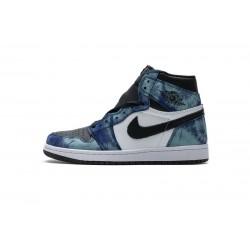 """Air Jordan 1 """"Tie-Dye"""" Blue Black CD0461-100"""