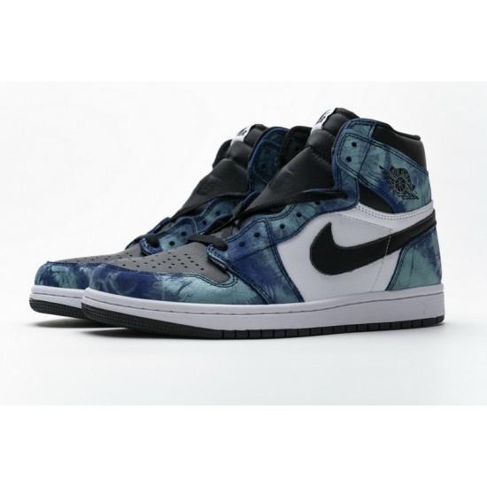 Air Jordan 1 Tie-Dye Blue Black CD0461-100 Shoes