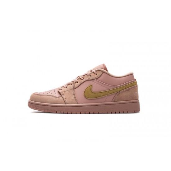 Air Jordan 1 Low Coral Stardust Pink Gold CJ9216-676 Shoes