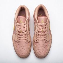 "Air Jordan 1 Low ""Coral Stardust"" Pink Gold CJ9216-676"