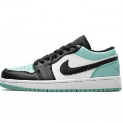 """Air Jordan 1 Low """"Emerald Toe"""" Blue Black 553558-117"""