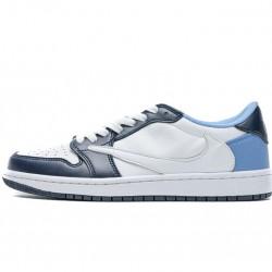 Travis Scott x Fragment Design x Air Jordan 1 Low Blue White CQ4278-001 40-46