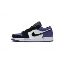 "Air Jordan 1 Low ""Court Purple"" Black Purple 553558-125"