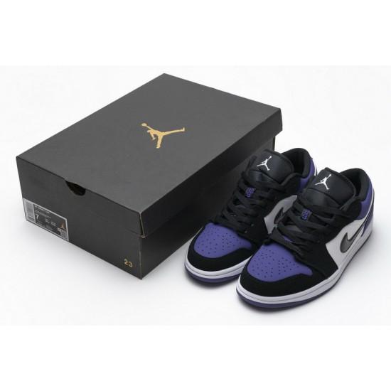 Air Jordan 1 Low Court Purple Black Purple 553558-125 Shoes