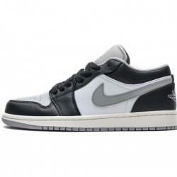 "Air Jordan 1 Low ""Light Smoke Grey"" Black Grey 553558-039"