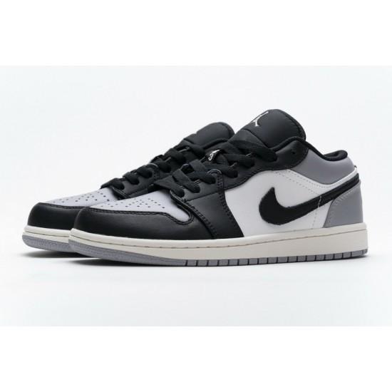 Air Jordan 1 Low Atmosphere Shadow Black Gray 553558-110 Shoes