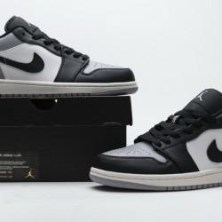 """Air Jordan 1 Low """"Atmosphere"""" Shadow Black Gray 553558-110"""