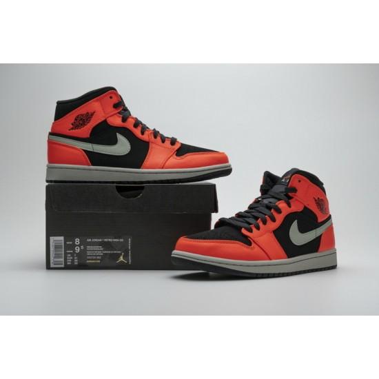 Air Jordan 1 Black Cone Black Orange 554724-062 Shoes