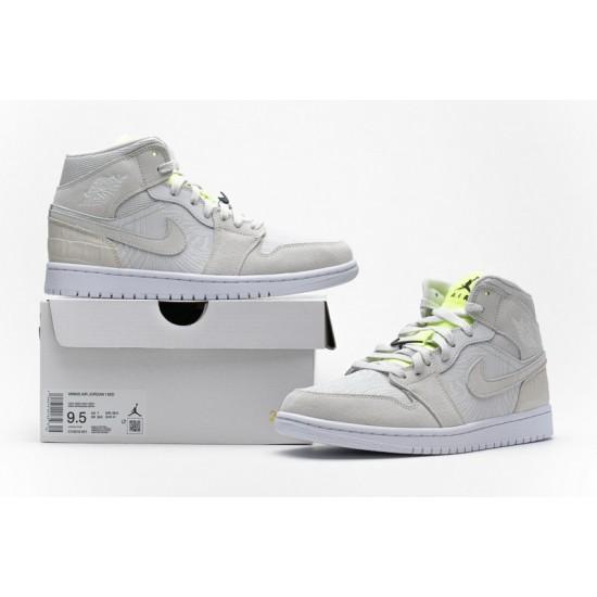 Air Jordan 1 Grey Ghost Green White Green CV3018-001 Shoes