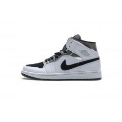 "Air Jordan 1 Mid ""Alternate Think"" White Black Silver 554724-121"