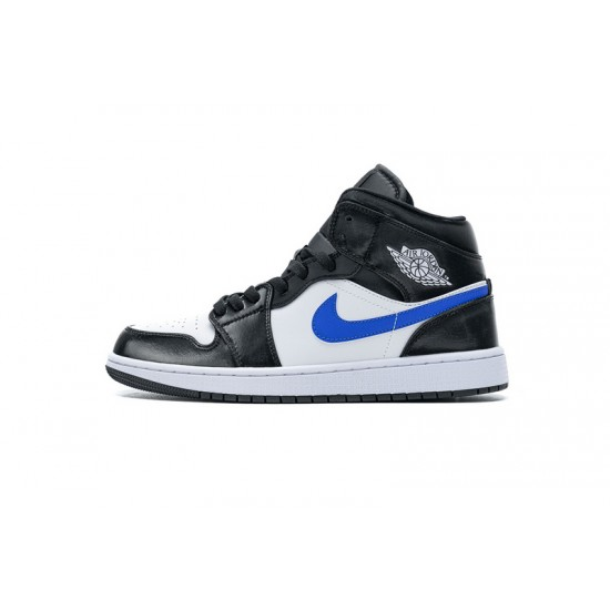 Air Jordan 1 Mid Astronomy Blue Black Blue White 554724-084 36-46 Shoes