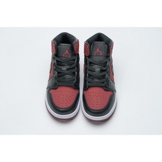 Air Jordan 1 Mid Banned Gym Red Red Black 554725-610 36-46 Shoes