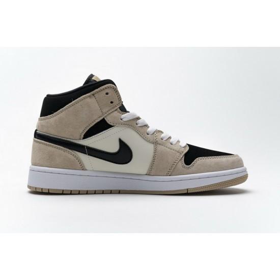 Air Jordan 1 Mid Barely Orange Pink Black White BQ6472-800 Shoes