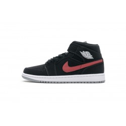 "Air Jordan 1 Mid ""Black Red Royal"" Black Red Blue 554725-065"