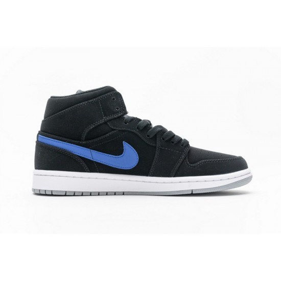 Air Jordan 1 Mid Black Red Royal Black Red Blue 554725-065 Shoes