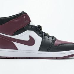 "Air Jordan 1 Mid ""Marron"" Black White Red CZ4385-016 36-46"