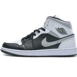 "Air Jordan 1 Mid ""White Shadow"" Black White Grey 554724-073 36-45"