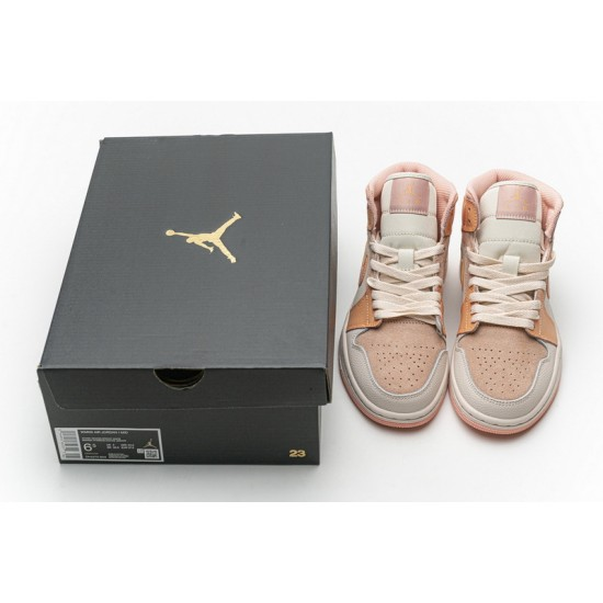 Air Jordan 1 Mid Atomic Orange White Orange DH4270-800 Shoes