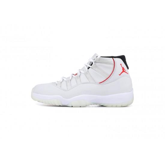 Air Jordan 11 Platinum Tint White Red 378037-016 Shoes