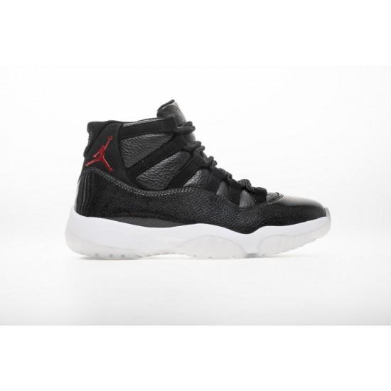 Air Jordan 11 72-10 Black White 378037-002 Shoes