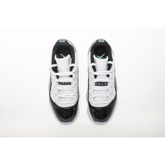 Air Jordan 11 Emerald Easter White Black 528895-145 Shoes
