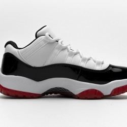 """Air Jordan 11 Low """"White Bred"""" Black White Red AV2187-160"""