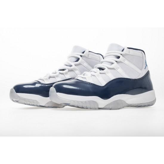 Air Jordan 11 Midnight Navy White Blue 378037-123 Shoes