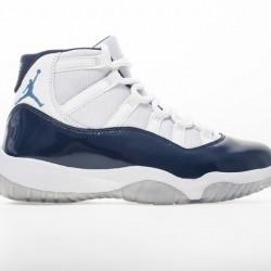"Air Jordan 11 ""Midnight Navy"" White Blue 378037-123"