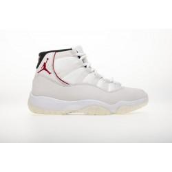 "Air Jordan 11 ""Platinum Tint"" White Red 378037-016"