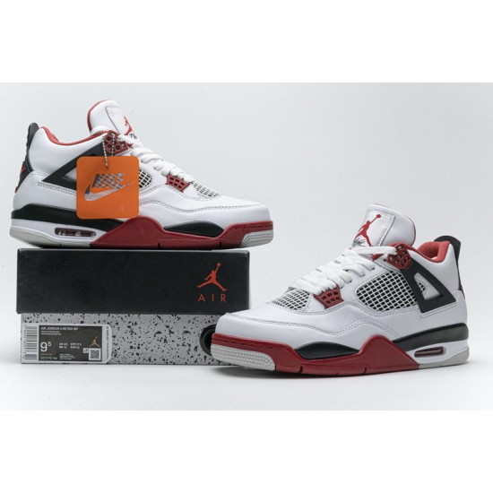 Air Jordan 4 Fire Red White Red DC7770-160 Shoes