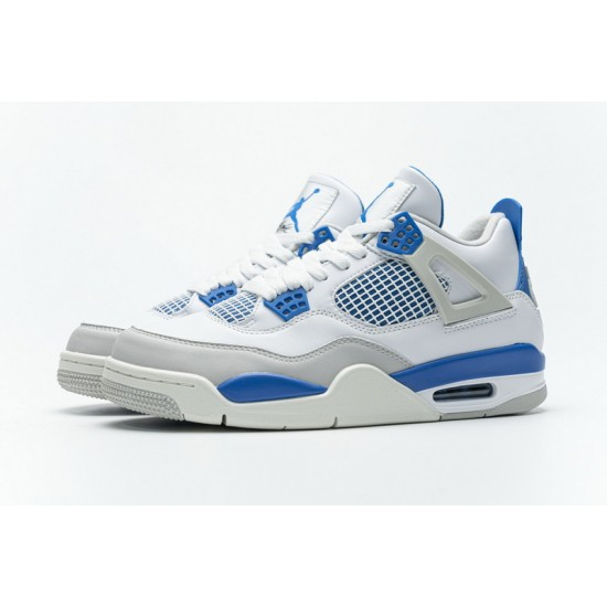 Air Jordan 4 Military Blue White Blue 308497-105 40-46 Shoes