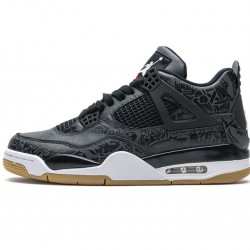 "Air Jordan 4 Retro ""Black Laser"" Black White CI1184-001"