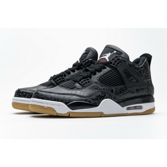 Air Jordan 4 Retro Black Laser Black White CI1184-001 Shoes