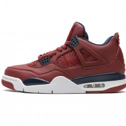 "Air Jordan 4 Retro ""FIBA Gym Red"" Red Black CI1184-617"
