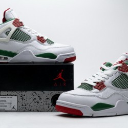 "Air Jordan 4 Retro ""Do The Right Thing"" White Green Red AQ3816-063"