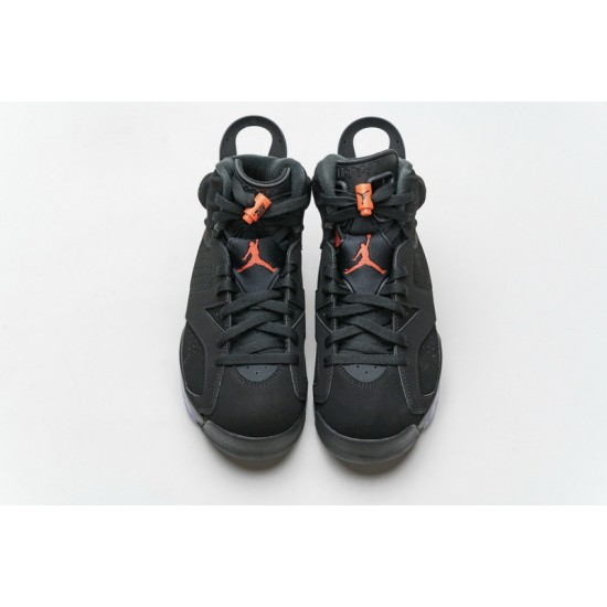 Air Jordan 6 Black Infrared Black Red 384664-060 Shoes