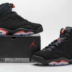"Air Jordan 6 ""Black Infrared"" Black Red 384664-060"
