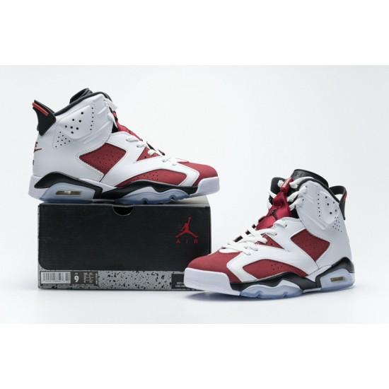 Air Jordan 6 Carmine White Red CT8529-106 40-47 Shoes