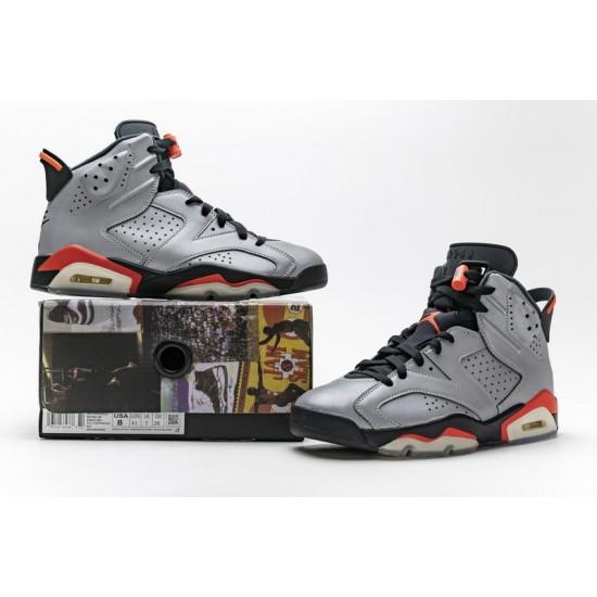 Air Jordan 6 Reflections of a Champion Silver Black CI4072-001 Shoes