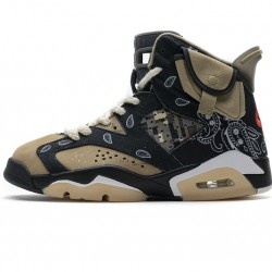 "Air Jordan 6 Retro SP ""Paisley Print"" Black Brown CT5058-001"