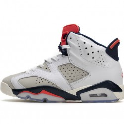 "Air Jordan 6 ""Tinker"" White Red 384664-104"