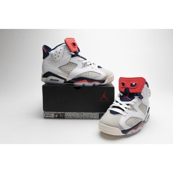 Air Jordan 6 Tinker White Red 384664-104 Shoes